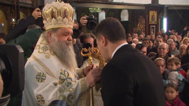 ФОТО: Државниот врв на Божикна литургија во Соборниот храм