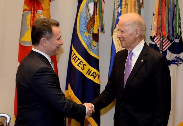 Средба Груевски Бајден во Вашингтон