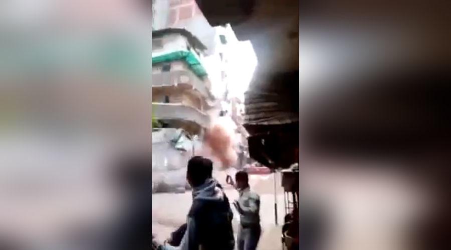 ВИДЕО: Станбена зграда во Египет се урна како кула од карти