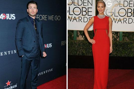 """Џенифер Лоренс и Крис Еванс – нова """"ѕвездена двојка""""?"""