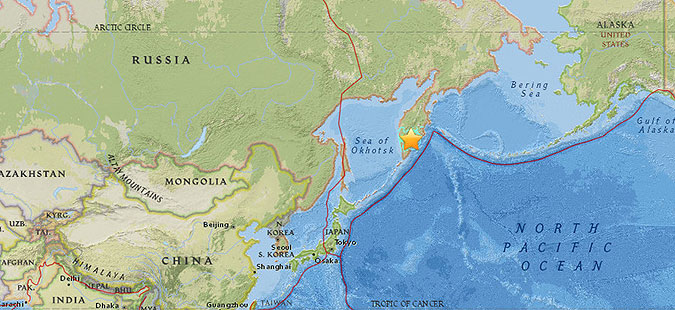 Силен земјотрес во Русија