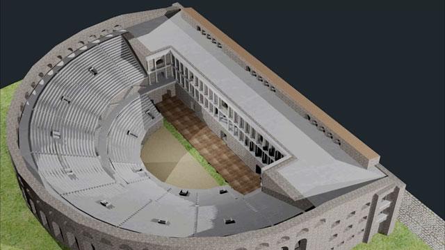 Еве како ќе изгледа отворениот амфитеатар во Скупи  (ВИДЕО)