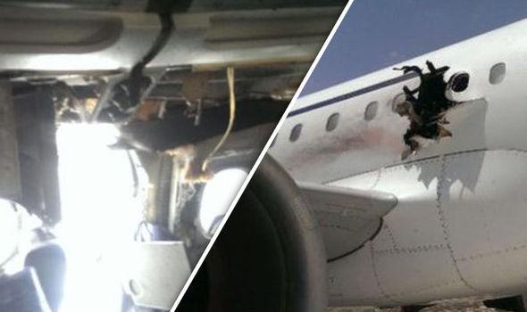 ФОТО: Поради експлозија, патник испаднал од авион