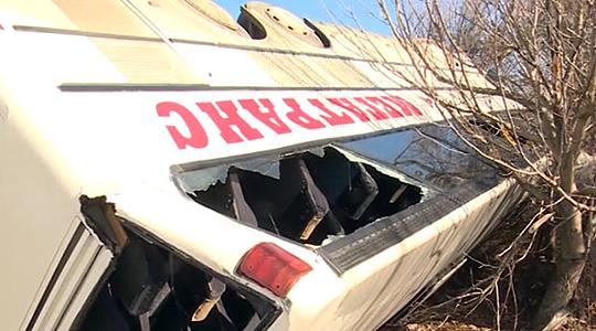 Камион што возел во спротивна лента причина за превртување на бугарскиот автобус?