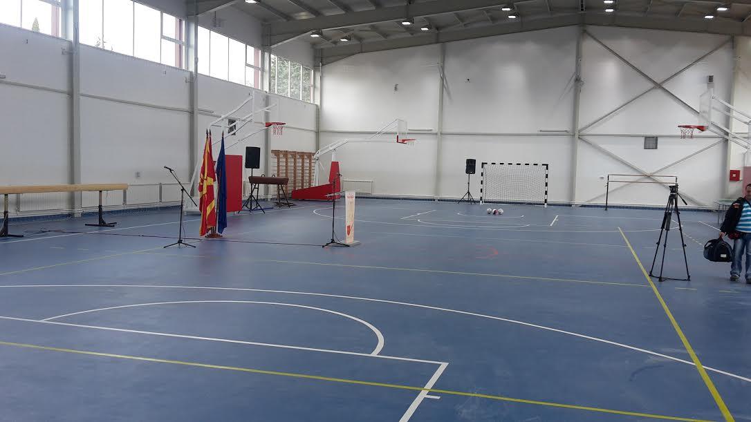 """Нова спортска сала во средното училиште """"8 Септември"""" во Тетово"""