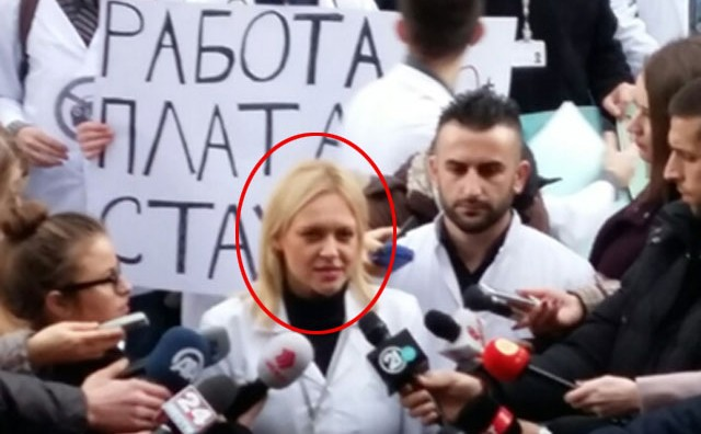 И протестот на приватните специјализанти со печат на СДСМ (ФОТО)