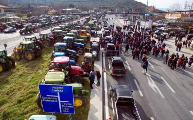Блокада на грчките земјоделци