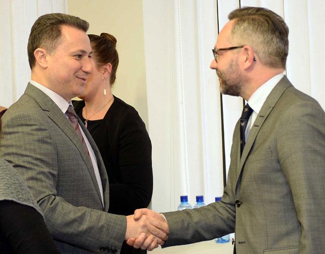 Груевски оствари средба со Државниот секретар на германското МНР, Михаел Рот