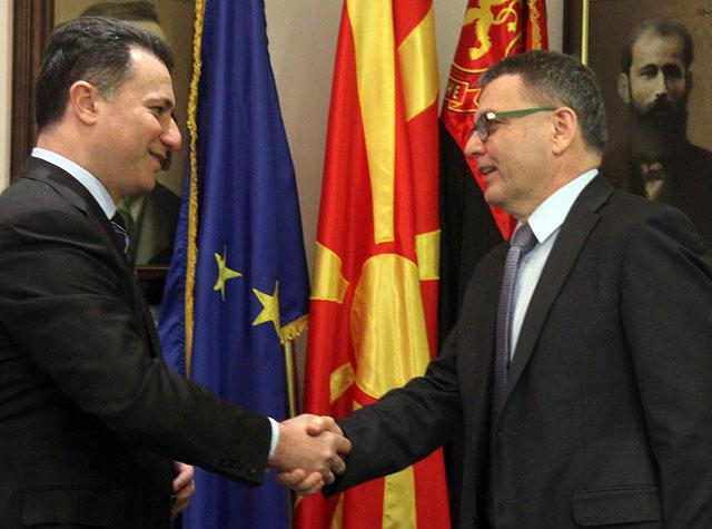 Груевски-Заоралек: Поскоро одржување на изборите, на Македонија и на европските партнери им е потребна стабилна влада
