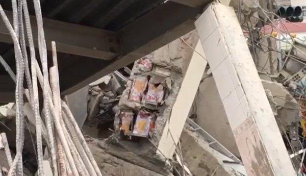 """Станбениот комплекс во Тајван бил """"зајакнат"""" со конзерви"""