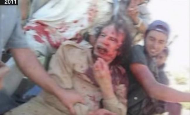 Нова снимка од последните моменти на Гадафи