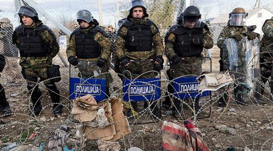 Словачки полицајци на македонско – грчката граница