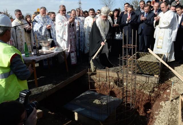 """ФОТО ГАЛЕРИЈА: Почна изградбата на храмот """"Сретение на Господ Исус Христос"""" во Железара"""