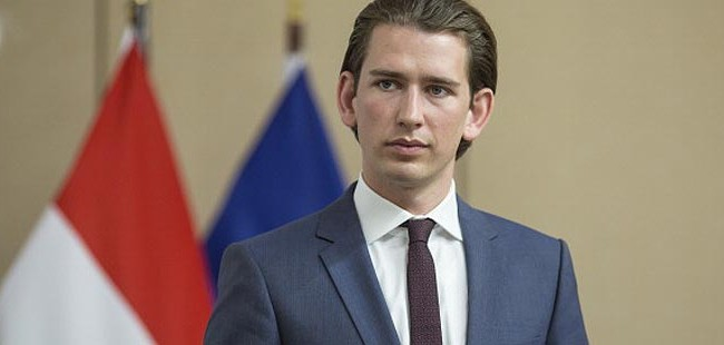 Vienna, Austria - June 19:  Foreign Minister of Austria Sebastian Kurz  speaks during a press conference with German Foreign Minister Frank-Walter Steinmeier in Vienna on June 19, 2014 in Vienna, Austria.  German Foreign Minister Frank-Walter Steinmeier arrived for an visit to the Austrian capital . (Photo by Thomas Imo/Photothek via Getty Images)
