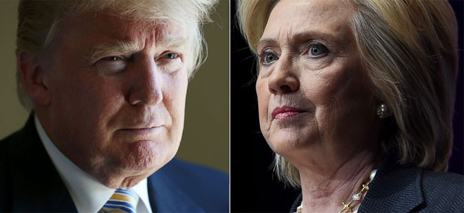 Убедливи победи на Клинтон и Трамп на првичните избори во САД