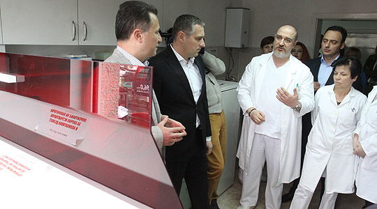 Опрема за рано дијагностицирање на туберколоза на Институтот за белодробни заболувања