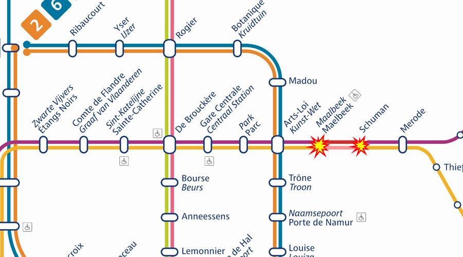 ФОТО: Најмалку 10 мртви во метрото во Брисел
