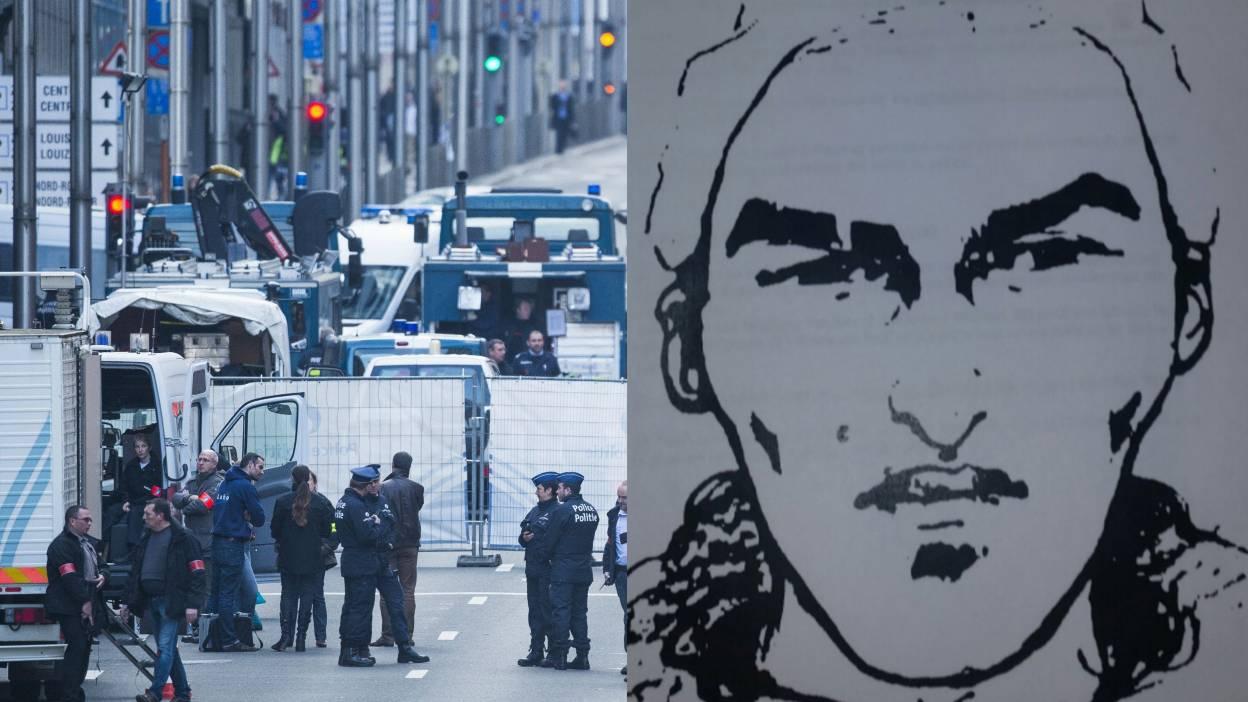Уапсен мажот кој се гледа на снимката од бриселското метро