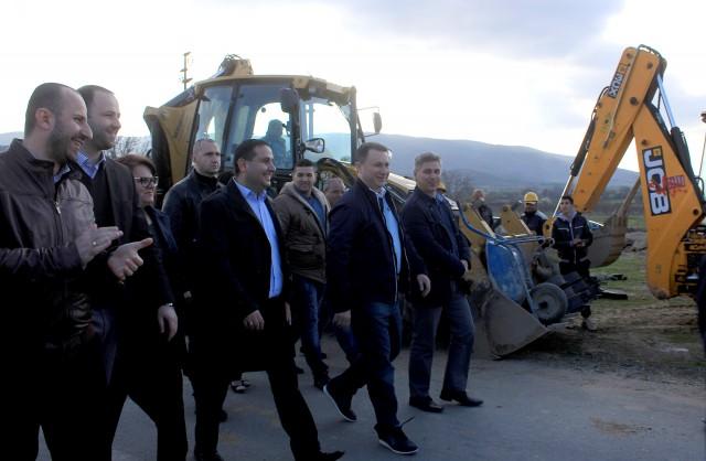Подобрување на патиштата и канализација во Калуѓерица и Воиславци