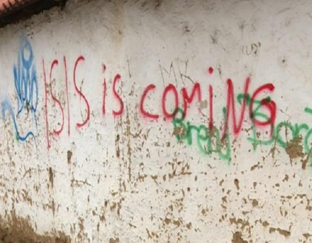 """Графит """"ИСИС доаѓа"""" осамна на црква во Приштина"""