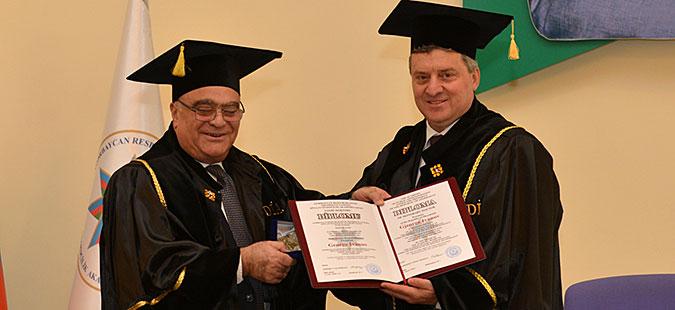 Иванов прогласен за почесен доктор на науки на Академијата за јавна администрација на Азербејџан