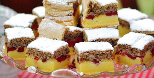 Подгответе брз и вкусен колач со вишна и ореви