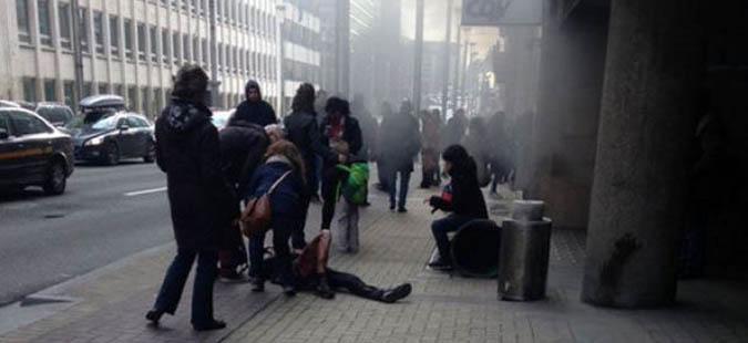 Најмалку 10 жртви во експлозијата во бриселската метро станица