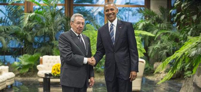 Почна историската средба меѓу претседателите Обама и Кастро