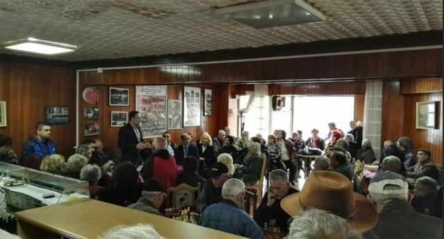 Тодоров на средба со пензионери во Штип