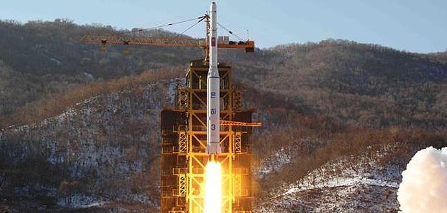In this Dec. 12, 2012 photo released by Korean Central News Agency, North Korea's Unha-3 rocket lifts off from the Sohae launch pad in Tongchang-ri, North Korea. The satellite that North Korea launched on board the long-range rocket is orbiting normally, South Korea said on Thursday. (AP Photo/KCNA)