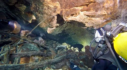 Откриена нова подводна пештера на Матка
