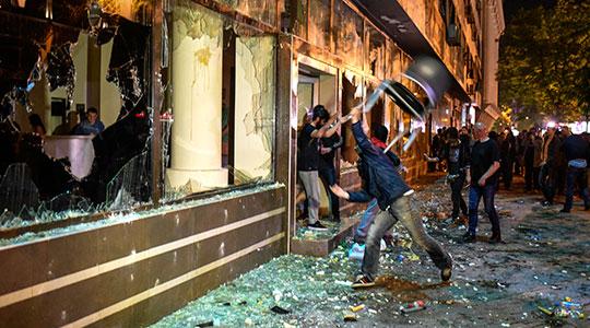 Демолирање на канцеларијата на претседателот Иванов