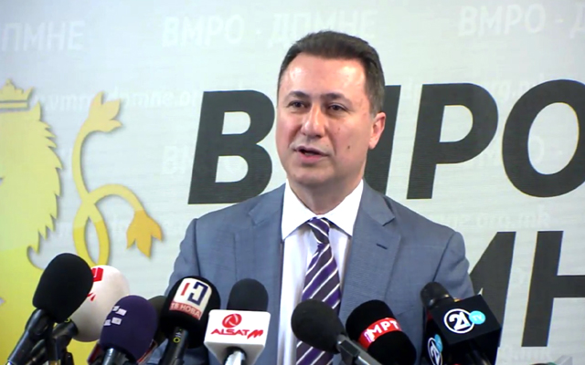 ВО ЖИВО: Прес конференција на лидерот на ВМРО-ДПМНЕ, Никола Груевски