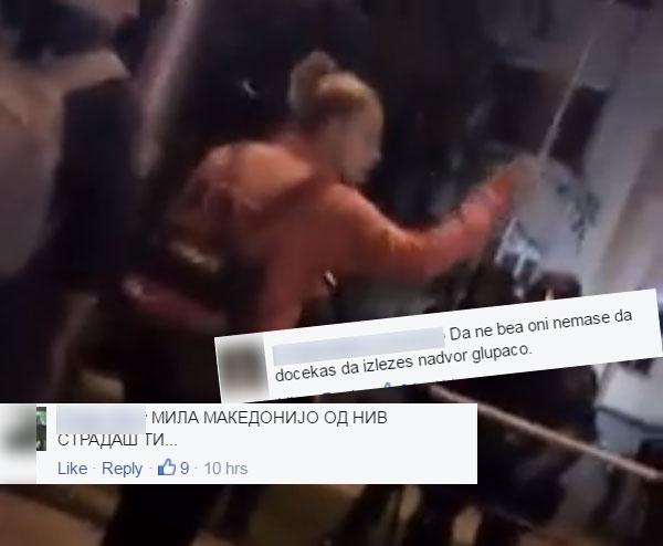 ФОТО: Граѓаните гневни на насилниците на СДСМ кои им посакуваат смрт на полицајците