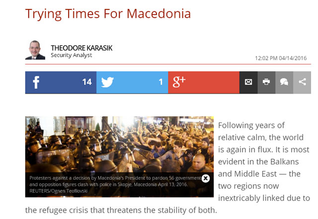 The Daily Caller: Заев ѝ помага на Грција во промена на името на Македонија