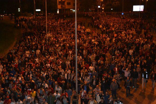 Нов масовен протест на ГДОМ од 19 часот: Народот се крева да ја одбрани државата и мирот
