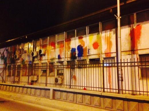Хулиганите на СДСМ, СОРОС удрија и по бараките на Град Скопје