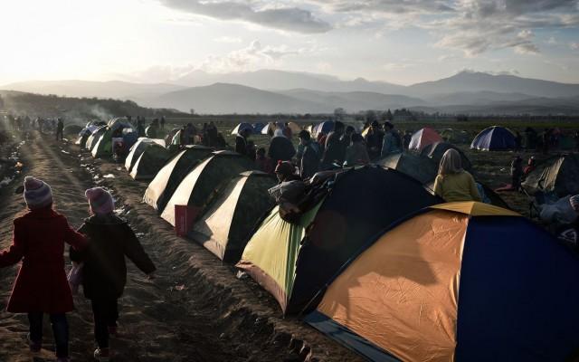 Див мигрантски камп кај Идомени