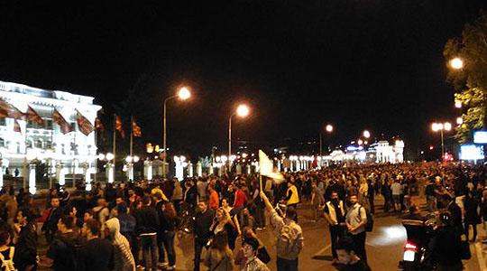 """Протестот на граѓанската иницијатива """"Протестирам"""" заврши пред Владата"""