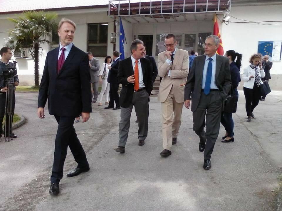 ФОТО: Како беа пречекани странските амбасадори во Гевгелија