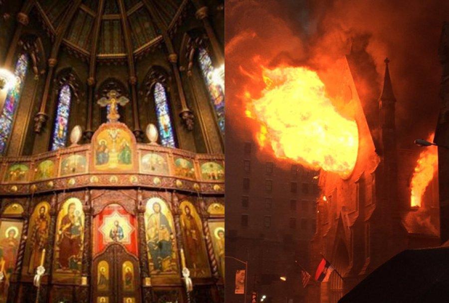 ВИДЕО: Чудо – црквата изгоре до темел, а крстот и иконата останаа недопрени