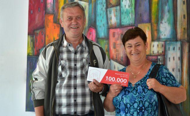 Dobitnici na nagraden vaucher od 100 000 den