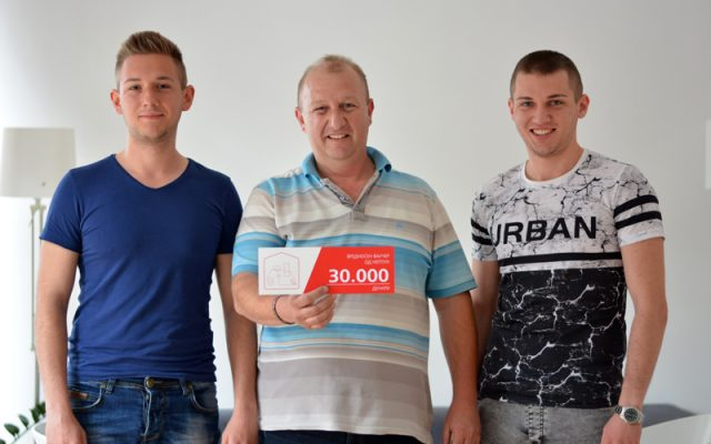 Dobitnici na nagraden vaucher od 30 000 den