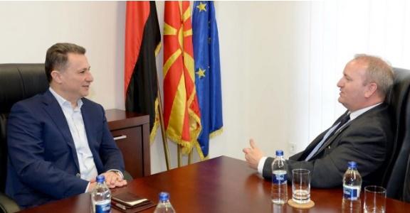 Груевски оствари средба со пратеникот од британскиот парламент Марк Причард