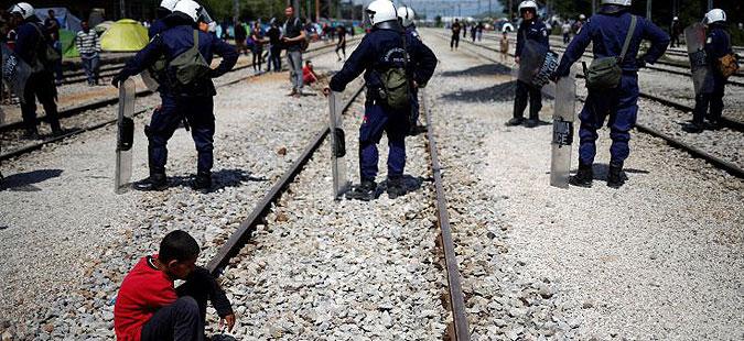 Протест на бегалците во Идомени