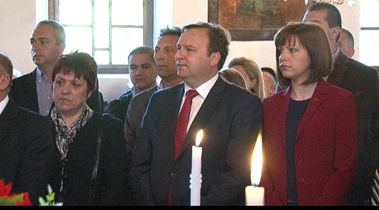 """Димитриев на свечена Велигденска литургија во храмот """"Св. Никола"""" во Штип"""