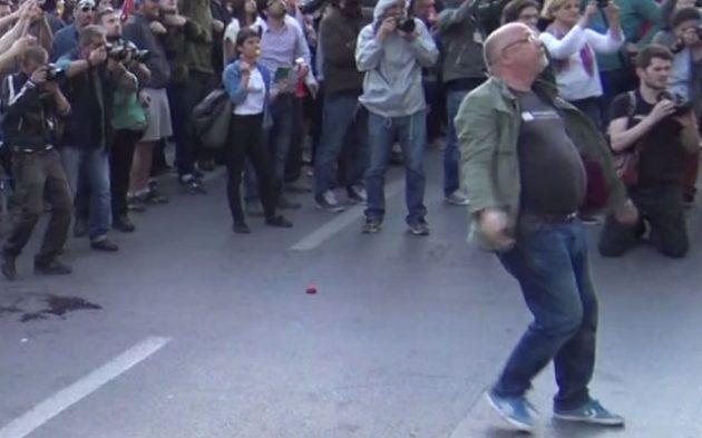 Гордан Калајџиев на протестите