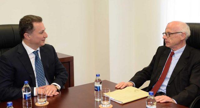 Средба на Груевски со Хајндл – ВМРО-ДПМНЕ посветена на изнаоѓање решение за брз излез од кризата