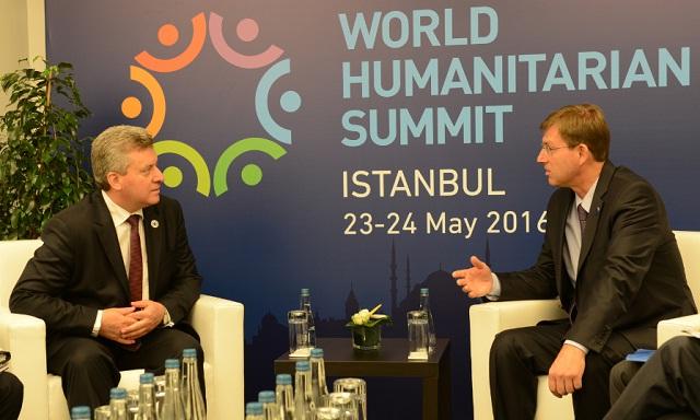 Иванов на Светски хуманитарен самит: Средби со Ердоган, Ципрас и Церар