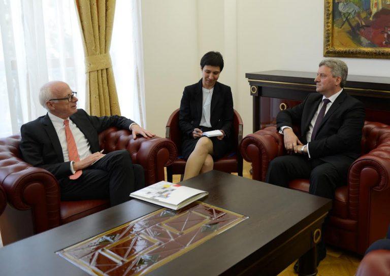 Иванов оствари средба со амбасадорот Хајндл